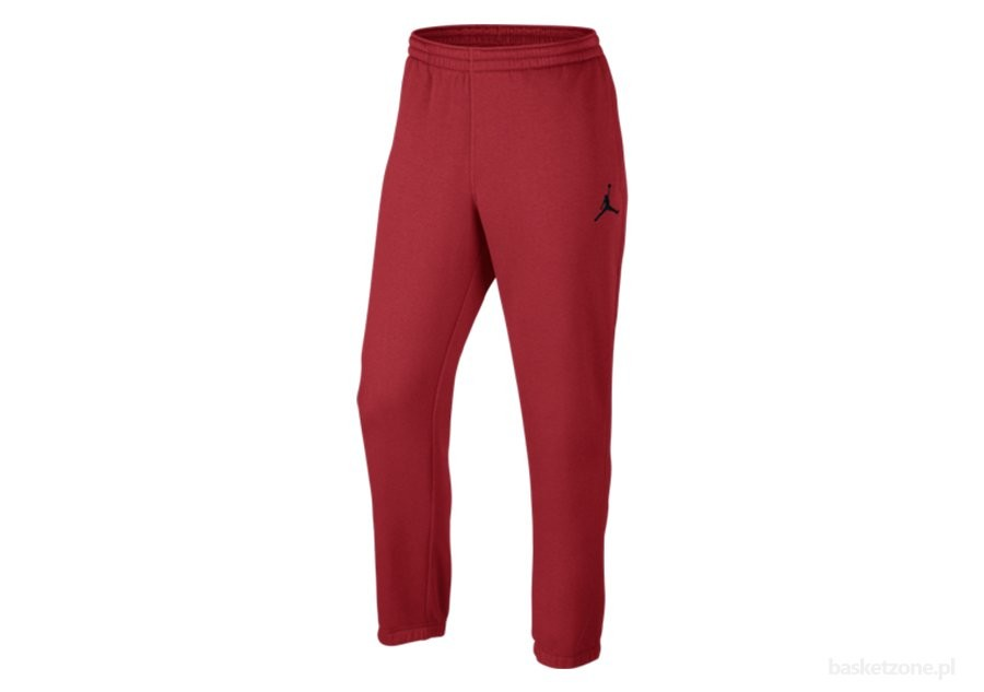 NIKE JUMPMAN BRUSHED TAPERED GYM RED